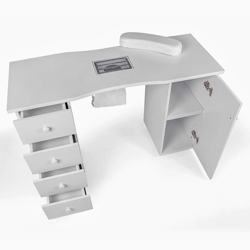 Maniküre- und Nageltisch mit Ablaufventil Schubladen Nagelrekonstruktion Tone - image