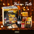 ITALIAN TASTE Geschenkkorb Weihnachtsgeschenk mit Lambrusco Wein Parmesan - offert
