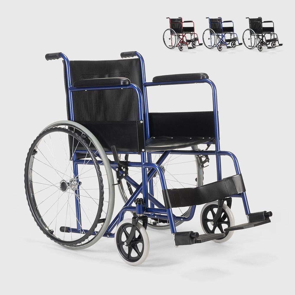 Rollstuhl Kunstleder Klapp Orthopädischer Rollstuhl Behinderte und Ältere Menschen Violet - promo
