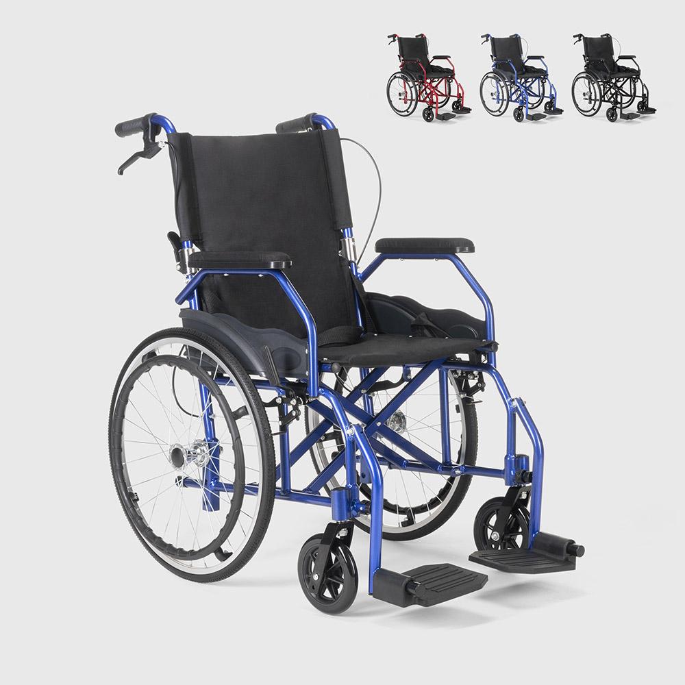 Klappbarer Rollstuhl aus Orthopädischem mit Bremsen Behinderte und Ältere Menschen Dasy - outdoor